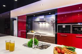 Kitchen With Red Appliances Stylish Contemporary Kitchens Dream Modern Homes