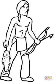 Small Picture Indian Got Some Fish coloring page Free Printable Coloring Pages