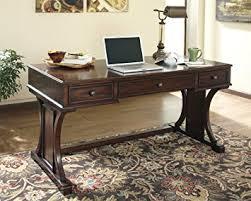 devrik collection contemporary design medium brown finish home office desk brown finish home office