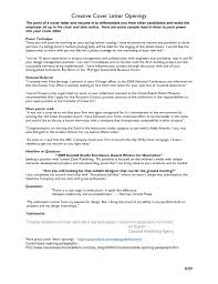 Opening Letter For Resume Cover Line Summary Sample First Sentence
