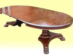 superb antique mahogany circular extending centre pedestal dining table
