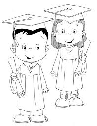 Kindergarten Graduation Coloring Pages Graduates Childrens Free Coloring Pages Coloring Pages Dibujos