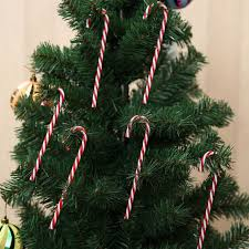How To Decorate A Candy Cane Christmas Tree 60x Candy Cane Christmas Crutch Xmas Tree Hanging Festival Party 57