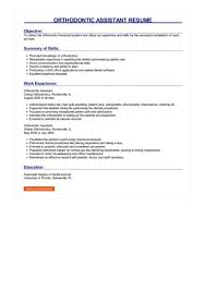 Orthodontic Assistant Resume Sample Orthodontic Assistant Resume Great Sample Resume