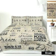 Script Writing Duvet Covers Retro Vintage Paris New York Quilt ... & French Script Duvet Covers Retro Home Dream Script French Vintage Quilt  Cover Set Single Double Queen Adamdwight.com