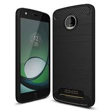 motorola moto z accessories. flexi slim carbon fibre tough case for motorola moto z play - black accessories