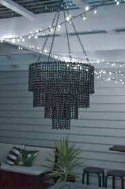 and another diy project was my beaded chandelier which hangs over the table i ll post my method for constructing it in the next day or two