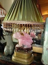 rose quartz lamp antique rose quartz foo dog bird bronze lamp rose quartz crystal lamp uk