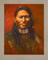 red sleeve dakota sioux native americans american indians portraits oil paintings mark kashino