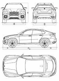 Vehicle Body Design Pdf Bmw Concept X6 Blueprint Dimensions Car Body Design
