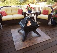 deck protect fire pit pad fire pit decking