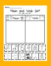 Worksheets Free Printable Noun And Verb Activities Nouns Adjectives ...