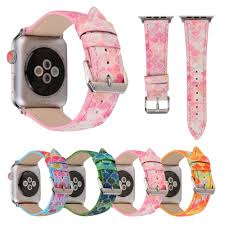 for 38 42mm apple watch band genuine leather fish skin prints colorful outdoors sports iwatch strap belt wrist bracelet i324 watch straps wrist