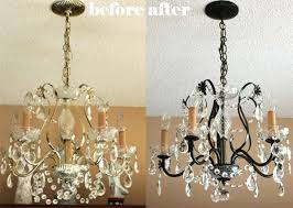 spray paint chandelier paint it black spray paint brass chandelier bronze