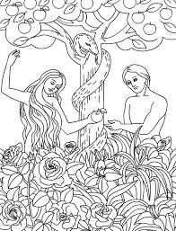 Coloring Pages Adam And Eve Best And Eve Coloring Pages For Your