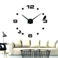large decorative clocks wall decor black cat bird quartz home big la