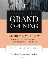 Fancy Flyers 240 Grand Opening Customizable Design Templates Postermywall