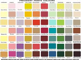 President Paint Color Chart President Paint