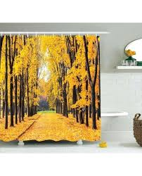 nature shower curtain autumn trees leaves print for bathroom curtains bathrooms inspired fabric