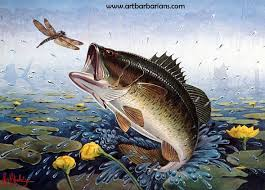 bass fish art stamp 1981 bass research foundation stamp print by les c kouba