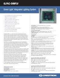 Green Light Trigger High Power Spec Sheet Glpac Dimflv Green Light Integrated Lighting
