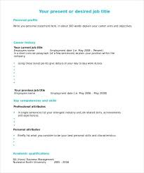 Resume Fill In Template Ready To Fill In Resume Template Fill In