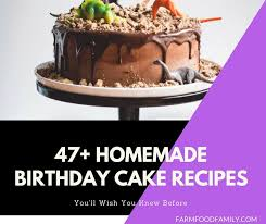 47 Best Homemade Birthday Cake Recipes For Your Kids