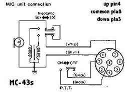 am putting a new 8 pin connecter on a kenwood 43s microphone please reference below diagram and pinout