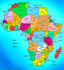africa political map countries and capital cities  africa
