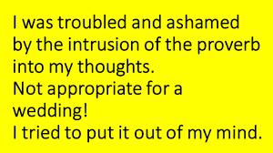 A Rude Tamil Proverb And Periyar Intruded On Me At A Hindu Wedding