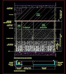 glass partition and design cad