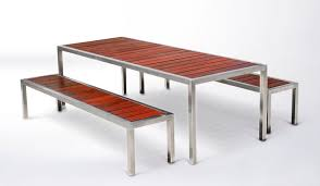 metal and wood patio furniture. Simple Metal Adorable Metal And Wood Outdoor Furniture Base Community Table In Patio D