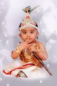 Kid in Lord Krishna Attire