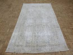 5 7 x 9 2 hand knotted overdyed gold persian vintage oriental rug g6419