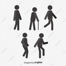 People Walking Silhouette Figures Vector Silhouette Figures Png