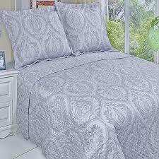 3pc Modern Moroccan Light Grey Quilt Coverlet Bedding Set Full ... & 3pc Modern Moroccan Light Grey Quilt Coverlet Bedding Set Full/Queen  Oversized - Elegant unique Adamdwight.com