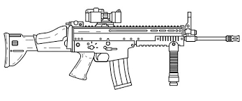 Summary Fn Scar Assault Rifle Coloring Page Free Printable