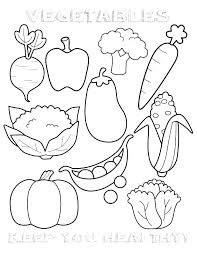 Healthy Foods Coloring Page Healthy Food Coloring Pages For