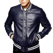 colored men leather er jacket