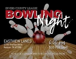 Bowling Event Flyer Bowling Night Template Postermywall