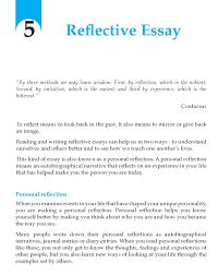 Grade 9 Reflective Essay Self Reflection Essay Reflective
