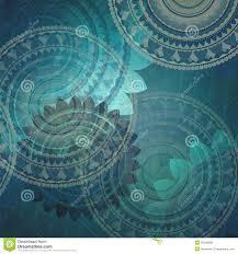 Fancy Background Design Elegant Blue Background Design With Fancy Seal Flower Shapes In