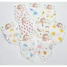 Set 2 khăn yếm sợi tre organic 6 lớp nhiều họa tiết cho bé trai bé gái sơ  sinh - K2 - Phụ kiện cho bé khác Thương hiệu OEM