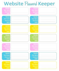 Printable Excel Password Template New Free Internet