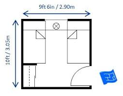 Exceptional 10ft X 9ft6ins Bedroom Size For Twin Beds Allows For The Minimum  Recommended Space Between The