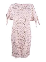 Vince Camuto Womens Lace Shift With Knotted Sleeves At