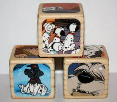 101 dalmatians childrens wooden book blocks baby shower gift nursery room decoration 1 5 inches