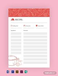 Recipe Journal Template Free Recipe Journal Template Word Psd Indesign