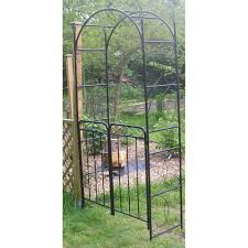 Small Picture Garden Arch With Gate Projects And Ideas To Improve Your Curb