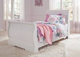 Brothers Fine Furniture Anarasia White Twin Sleigh Bed